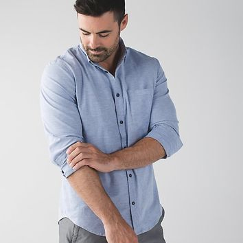 commission long sleeve button down *qwick oxford | men's long sleeve tops | lululemon athletica