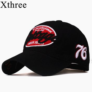 Xthree unisex spring casual  baseball cap fashion snapback hats casquette bone cotton  hat for men women apparel wholsale