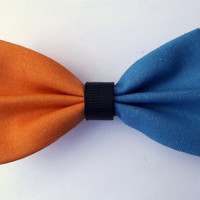 Orange & Blue Hair Bow