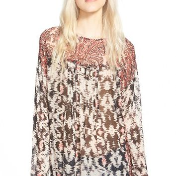 Women's Plenty by Tracy Reese Flowy Graphic Pintuck Blouse,