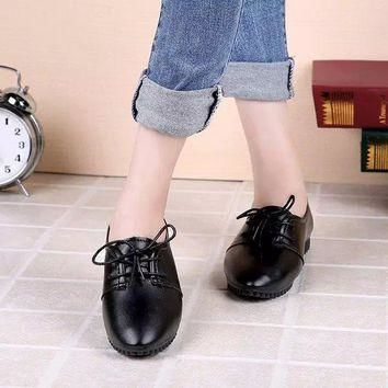 new Women spring and summer lace up casual shoes size 75859