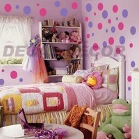 Vinyl Wall Art 216 Polka Dots Circles Vinyl Wall Decal Sticker Wall Decor Appliques childrens decor appliques, shapes
