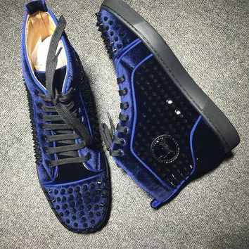 DCCK Cl Christian Louboutin Louis Spikes Style #1845 Sneakers Fashion Shoes