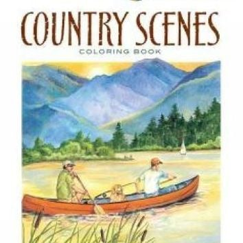 Country Scenes Coloring Book Creative Haven Coloring Books CLR REP