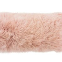 "Blush Longwool Combed Pillow - 11""x22"""