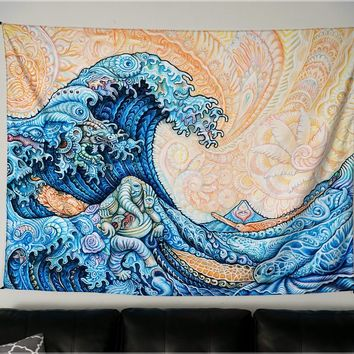 Great Wave Tapestry by Randal Roberts