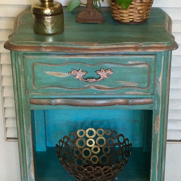 French Style Shabby Chic Nightstand