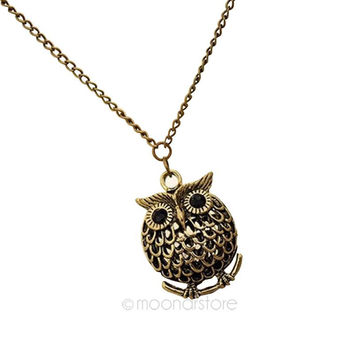 lovely animal fashion women necklaces Alloy choker owl hollow out collares vintage collier femme neck accessories  zx*MPJ126#c3