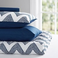 Zig Zag Stripe Value Comforter Set