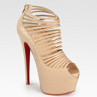 Christian Louboutin - Zoulou Leather Platform Sandals