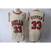 Men's Chicago Bulls Scottie Pippen Mitchell & Ness Gold Hardwood Classics Gold Series Swingman Jersey - Best Deal Online