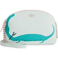 kate spade new york swamped gator hilli leather crossbody bag | Nordstrom