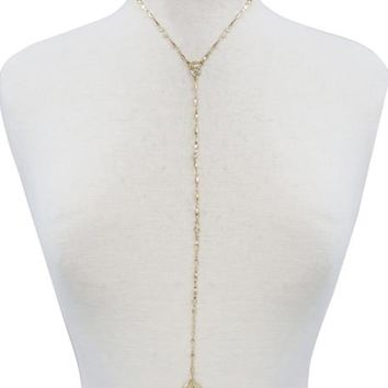 Poolside Body Chain in Gold