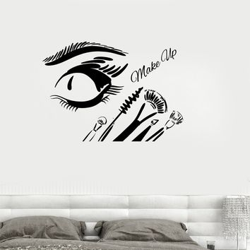 Vinyl Wall Decal Cosmetics Makeup Beauty Salon Woman Girl Room Stickers Unique Gift (ig3235)