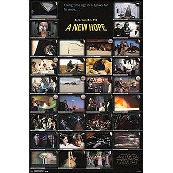 STAR WARS POSTER Episode IV A New Hope Collage RARE HOT NEW 22x34