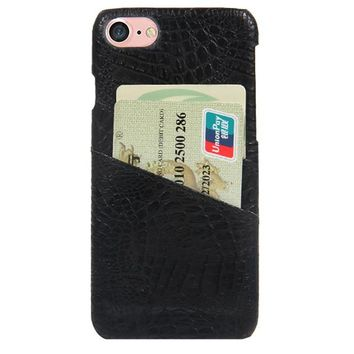 CROC CARD HOLDER PHONE CASE BLACK