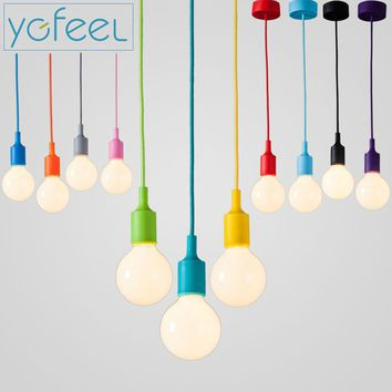 Modern Colorful Silica Gel Pendant Lamps/Lights; 13 Colors