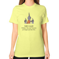 Kiki's Castle Logo Unisex T-Shirt (on woman)