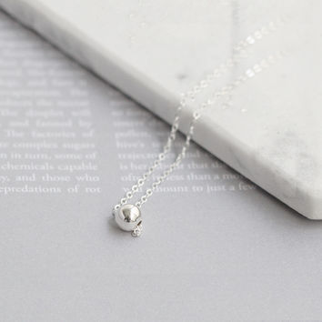 Shiny Jewelry Gift Stylish New Arrival 925 Silver Simple Design Pendant Accessory Korean Necklace [8080534407]