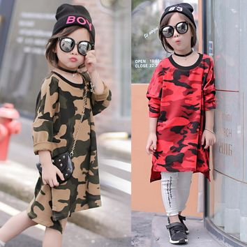 girls full sleeve dress for autumn and winter children army green dress causal dress for baby kids outfit clothes