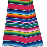 El Paso Designs Extra Large Mexican Serape Blankets (Pink)