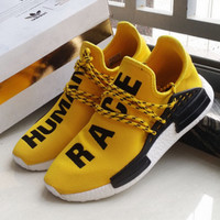 """Adidas"" NMD Human Race Yellow Leisure Running Sports Shoes"