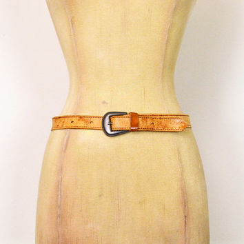 Vintage 70s Brown Leather Belt Distressed Leather Skinny Belt Cinch Waist Belt 70s Belt Hippie Belt Hippy Belt Boho Belt Women S Small 28