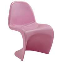 Wavy Chair Pink Plastic