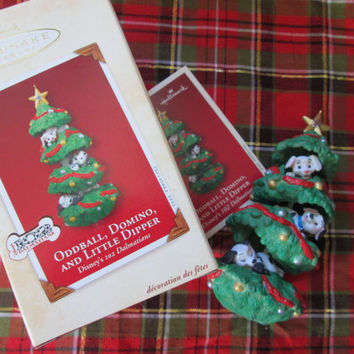 102 Dalmatians Oddball Domino & Little Dipper Christmas Tree Disney Hallmark Ornament