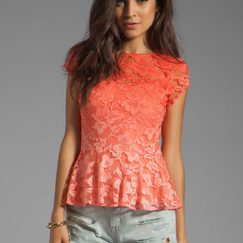 Dolce Vita Becka Stretch Lace Top in Pink Ombre from REVOLVEclothing.com