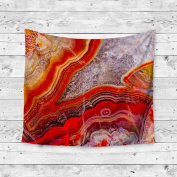 Fire Agate Wall Tapestry