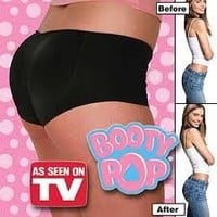 Booty Pop! As Seen On TV! Go from Flat To Fab in Seconds - Black only, Sm & Med