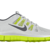 Nike Free 5.0 Shield iD Custom Women's Running Shoes - White