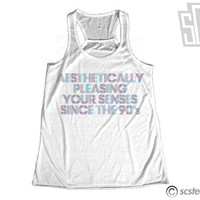 Aesthetically Pleasing Your Senses Since the 90's Flowy Razorback Singlet x Tank Top 067