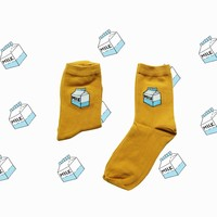 Milk Carton Sock