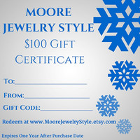 Gift Certificate - Custom Gift Certificate - Stocking Stuffer for Women- Gift for Mom - Gift for Wife - Personalized Gift - Gifts for Her