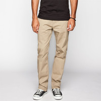 Rsq Melbourne Mens Straight Leg Twill Pants Buff  In Sizes