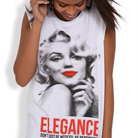 Long Sleeveless Tank Top with Marilyn Monroe Screen