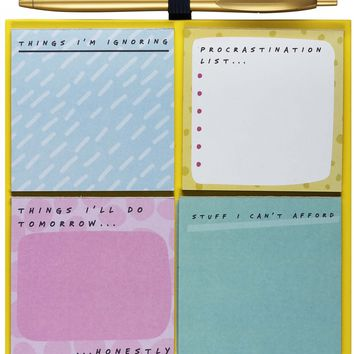 Brutally Honest Lists Sticky Note Pad Set