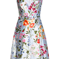 Floral-Print Cotton and Silk-Blend Twill Dress