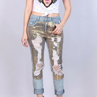 Shimmer Ripped Jean