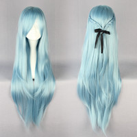 85cm Long Sword Art Online -Asuna Yuuki Multi-color Anime Cosplay Costume Wig,Colorful Candy Colored synthetic Hair Extension Hair piece 1pcs WIG-217E