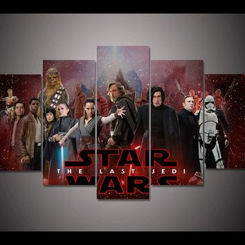 Star Wars The Last Jedi Movie Wall Art on Canvas Picture Poster Print