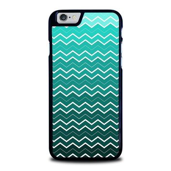 ombre teal chevron pattern iphone 6 6s case cover  number 1