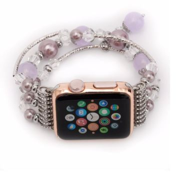 Women's Purple Agate Stretch Bracelet for Apple Watch Band for iWatch 42mm 38mm Sizes