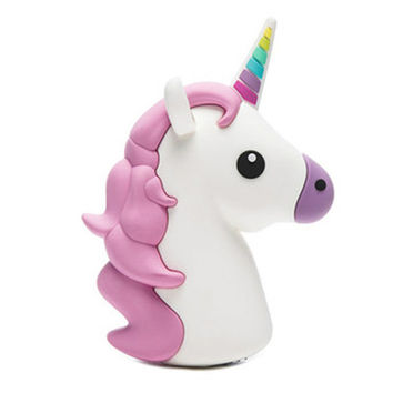 Majestic Unicorn Emoji Powerbank charger for iOS & Android