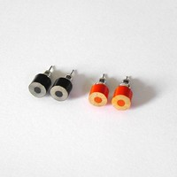 Supermarket: color pencil earrings, The Halloween Collection from Huiyi Tan Handmade Designer Jewelry