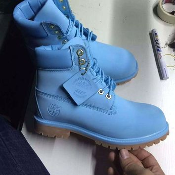 Timberland Rhubarb Boots 10061 2018 Blue For Women Men Shoes Waterproof Martin Boots