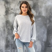 A Little Tied Up Knit Oversize Sweater Top