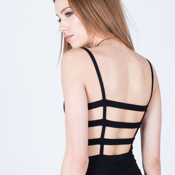 Caged Back Party Dress